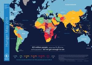 Опубликована карта ООН, свидетельствующая, что каждый девятый человек на Земле, получает недостаточно еды